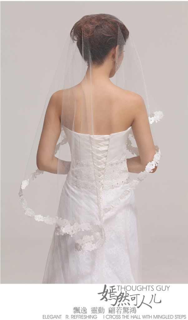 3 in 1 set Il Nuovo Abito Da Sposa Velo di Pizzo/Raso Stretch Guanti Garza/Pulito Petticoat Tre Pezzi accessori sposa