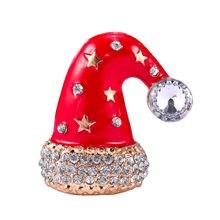 Mujeres personalidad sombrero de Navidad broche de regalo aleación broches  joyas para las mujeres e8bcad9fb8b