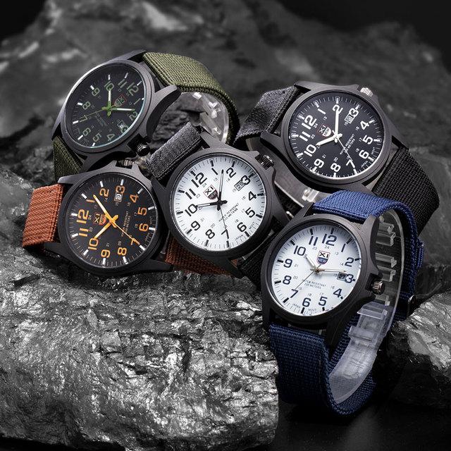 Brand Sport Military Watches Fashion Casual Quartz Watch Nylon Strap Ditital Men Luxury Men's Wrist Watches Relogio Masculino