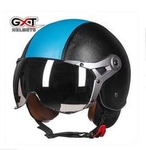 2017 Новый GXT Harley стиль Ввс Ретро мотоциклетный шлем открытый лицо мотоциклетные шлемы G-288 ABS Moto гонки helemts размер L XL
