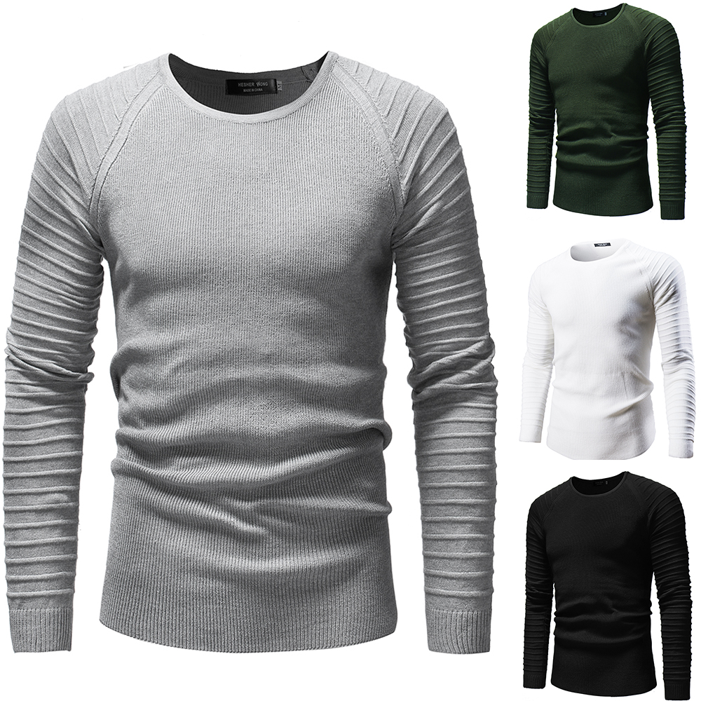 Mens Sweaters 2019 New Rag-sleeve Sweaters Personality Ruffled Sleeves Men's Knitwear Long-sleeve Sweaters