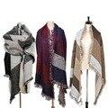 70 CM * 200 CM de Espessura Moda Lã Mulheres Pashmina Lenço Grande Outono Inverno Quente Xaile Da Senhora Marca Designer 2016 Venda quente