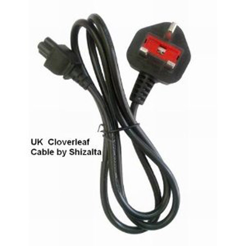 UK Type Plug for Laptop Adapter // C5 Cloverleaf Power Cord Mains Cable Lead