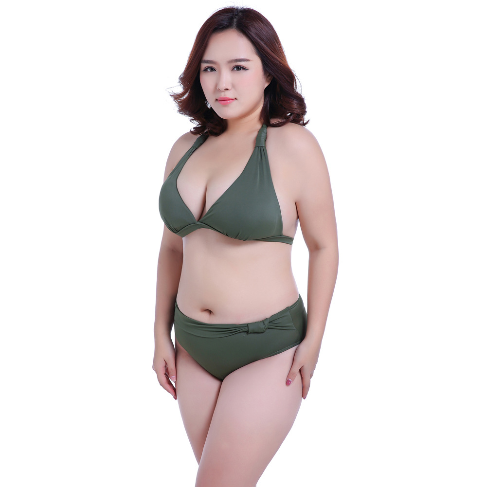 cadcad078bc3e Plus Size Female Fat MM Big Bra Cups Gather Sexy Women Swimwear Bikini Set  2017 Swimsuit Lady Beach Wear Swim Suit Beachwear 7XL