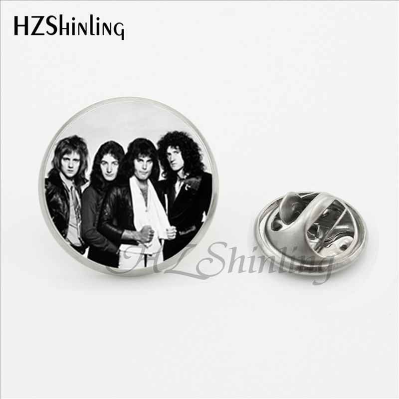 US $0 91 52% OFF|2017 New Design Rock Band Queen Collar Pin Brooch Fashion  Pins Queen Band Musician Silver Stainless Steel Lapel Pins-in Brooches from