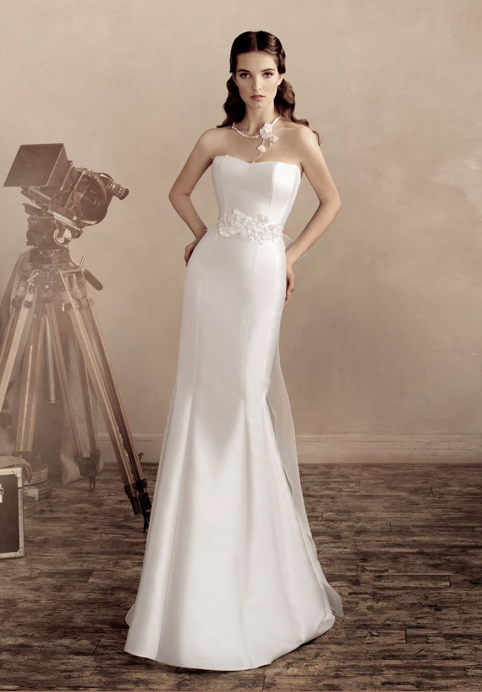 Plain White Mermaid Wedding Dress Strapless Long Satin Bridal Gown 2017 With Liqued Sheer Jacket Jw182 On Aliexpress Alibaba Group