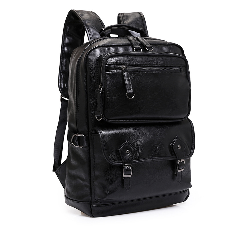 2018 New Men Backpacks Fashion High Quality Split Leather Male Korean Student Backpack Boy Business Laptop School Computer Bag 2017 senkey style new fashion casual backpack men travel computer laptop backpacks high quality for teenagers student school bag