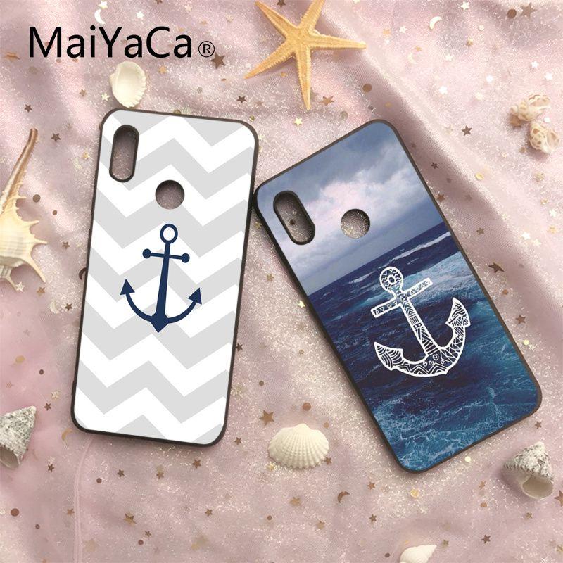 Phone Bags & Cases Straightforward Maiyaca Text Anchor Design Novelty Fundas Black Soft Case For Xiaomi 6 6plus 6x 8 8se Mi Note2 3 Redmi Note 4 5 Redmi5 5plus Non-Ironing