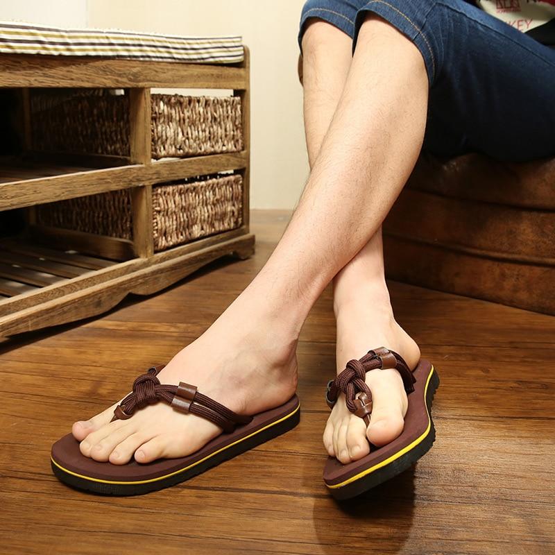 2019 hombres casual de verano de playa flip flops de moda sandalias de los hombres marea salvaje antideslizante cómodo Zapatillas Zapatos xk45