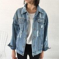 2017 Women Basic Coat Denim Jacket Women Winter Denim Jacket For Women Jeans Jacket Women Denim