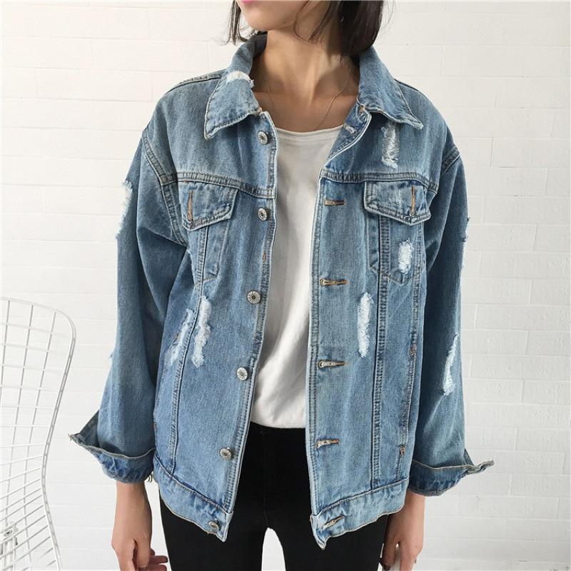 2017 Women Basic Coat Denim Jacket Women Winter Denim Jacket For Women Jeans Jacket Women Denim ...