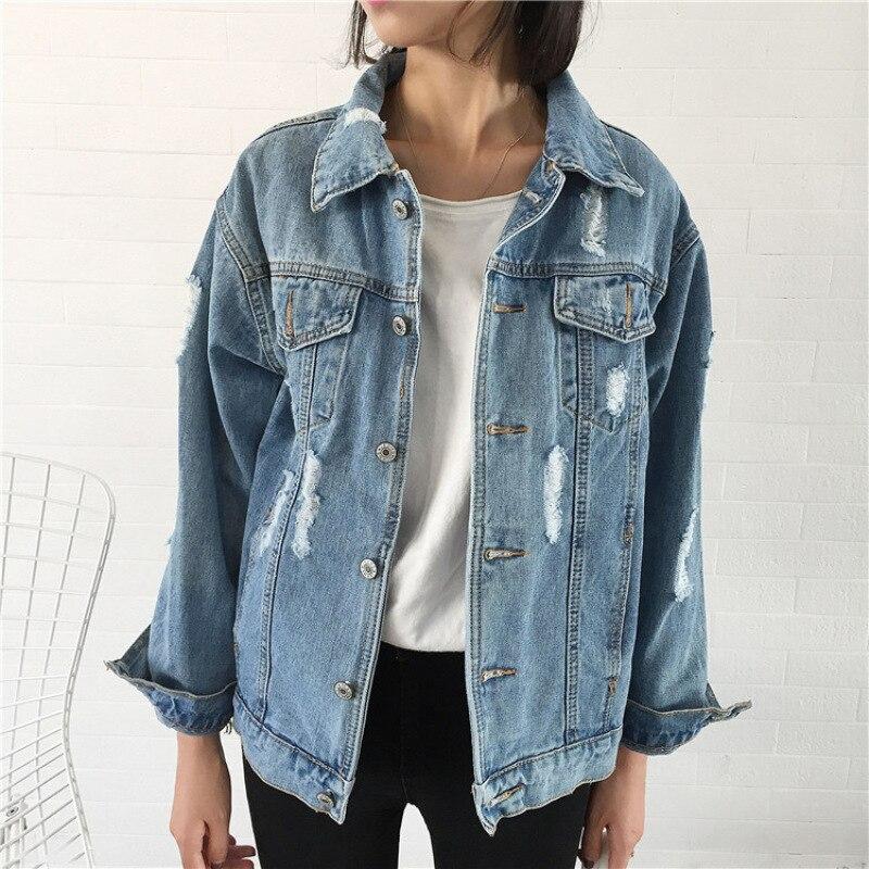2018 Women Basic Coat Denim Jacket s