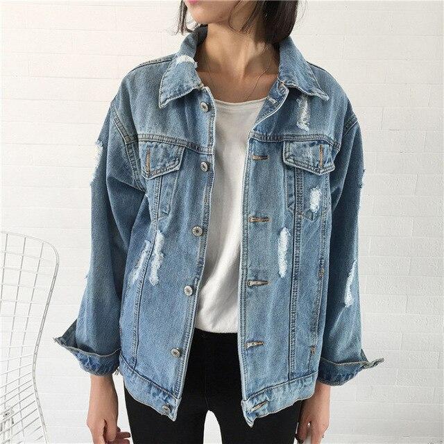2018 женское базовое пальто, джинсовая куртка, женская зимняя джинсовая куртка для женщин, джинсовая куртка для женщин, джинсовое пальто свободного кроя, повседневный стиль