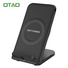OTAO Быстрый Беспроводной Зарядное Устройство с Охлаждающим Вентилятором Быстрое Зарядное Устройство Подставка Для Зарядки Pad для Samsung Galaxy S6 S7 S8 Плюс Край Примечание 5