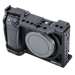 Image 4 - قفص مبيت من UURig لمنصة الفيديو SONY A6400 مع جهاز ضبط الفيديو بميكروفون حذاء بارد 1/4 3/8 فتحة برغي
