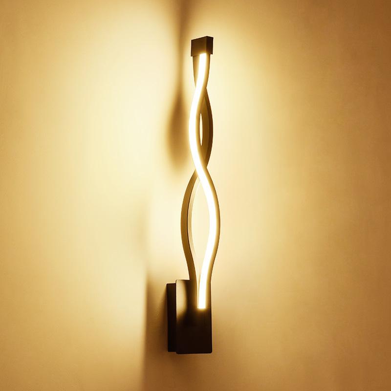 Neue Design Schwarz Weiss LED Wandleuchten Wohnzimmer Schlafzimmer FHRTE Innenwandleuchte Moderne Wohnraumbeleuchtung Wand Montiert Lamparas