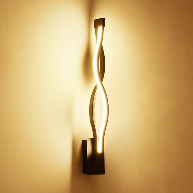 wall mounted lights living room cabinet new design black white led bedroom indoor lamp modern home lighting lamparas