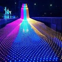 BEIAIDI 4X6M 720 LED Star Net Led String Light Curtain Icicle Mesh Fairy Lights Christmas String