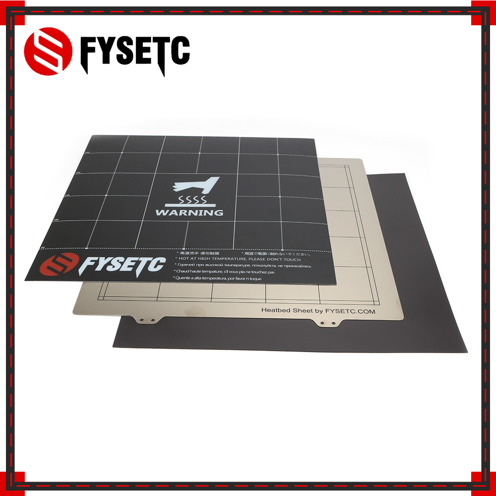 300X300mm Spring Steel Sheet Magnetic Heatbed Build Surface Plate Sheet Sticker For Creality CR 10S Tevo