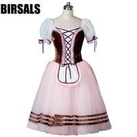 Free Shipping Women Peasant Variation Competiton Ballerina Ballet Tutu Dress Girls Professional Classical Brown BT8904D