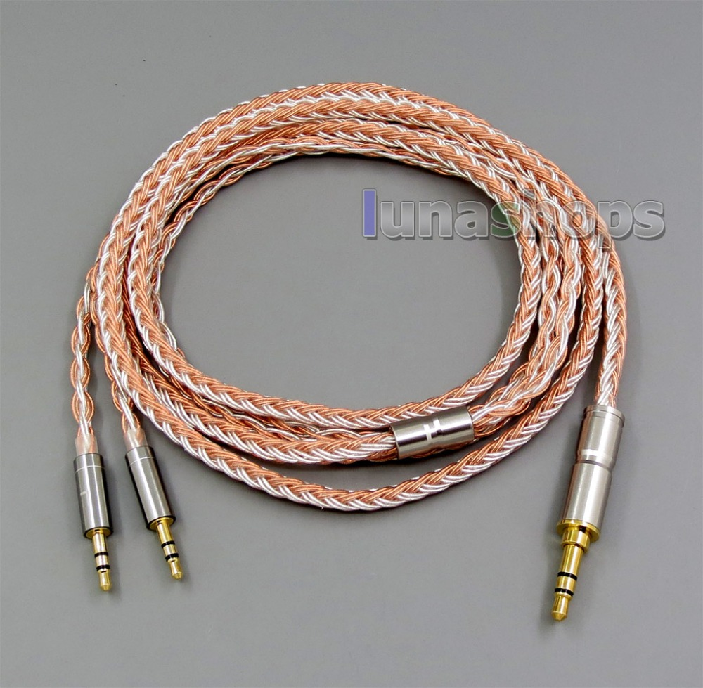 Pure Silver Plated OCC Cable for Hifiman HE400S HE-400I HE560 HE-350 HE1000 V2 Headphone 3.5mm to 2.5mm hifiman he 400s