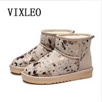 VIXLEO Women Snow Boots New UGS Fashion Quality Genuine Suede Leather Australia Classic Warm Winter Shoes