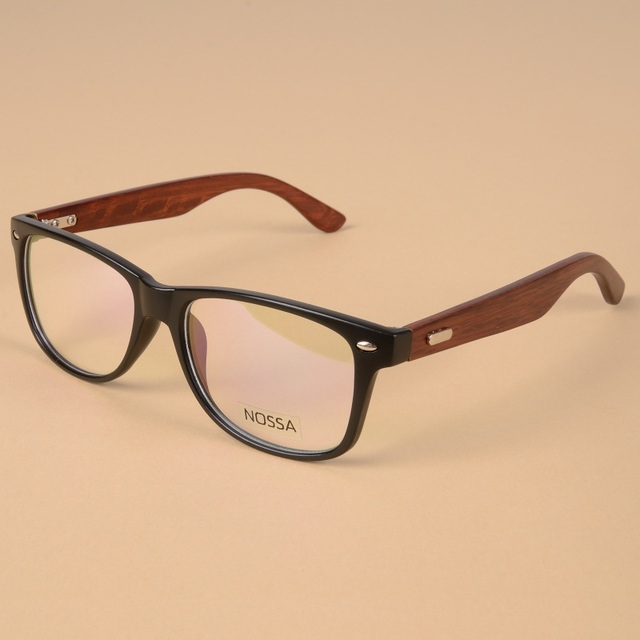 Handmade Natural Wood Eyewear Clear Frame Glasses Women And Men ...
