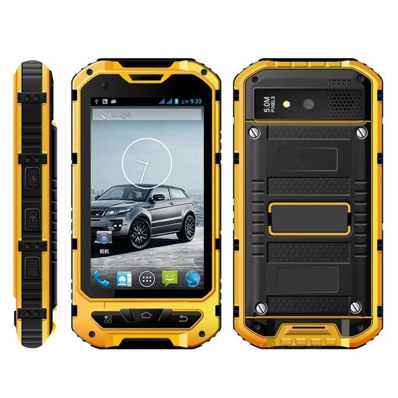 Цена за Оригинал A8 IP68 Водонепроницаемый Противоударный Прочный Телефон MTK6582 Quad Core 3000ma 2 Г ОЗУ 16 Г 3 Г GPS 8.0MP Мобильных NFC Dual SIM A9 zug3