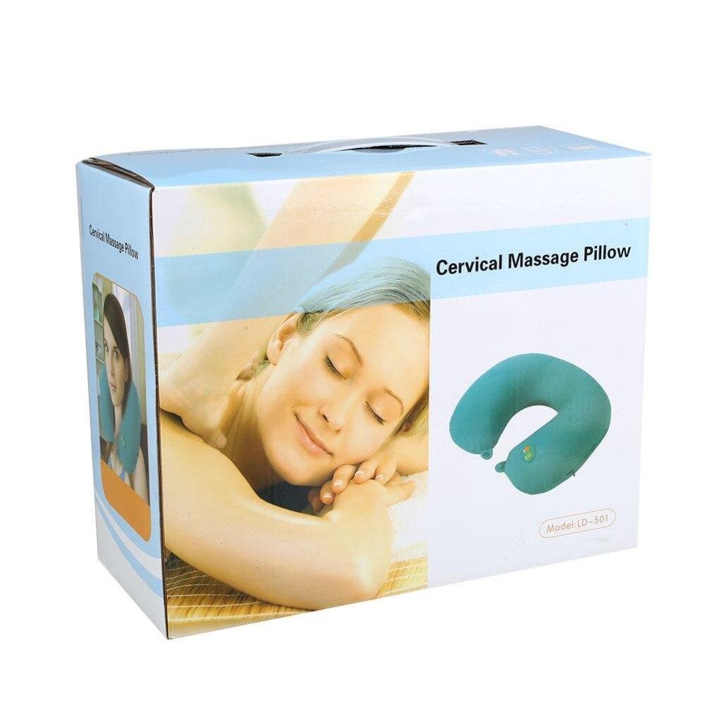 Original Box Electric U Shape Neck Massage Pillow Neck Shoulder Back Body Spa Massage Pillow Car Chair Massager пилка scholl роликовая электрическая для ногтей