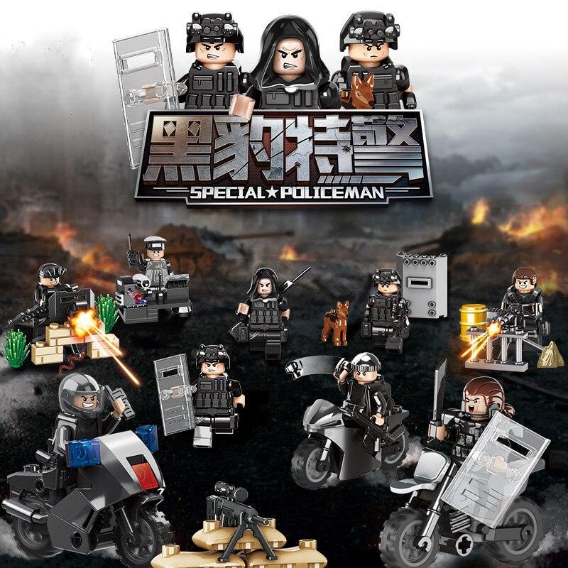 Aliexpress Com Buy Legoinglys Black Panther Swat