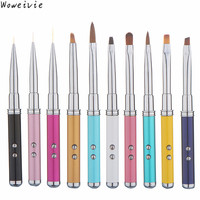 High Quality 10pc Nail Art Tips Crystal Acrylic Drawing Polish Laser Pen Touch Screen Free Shipping