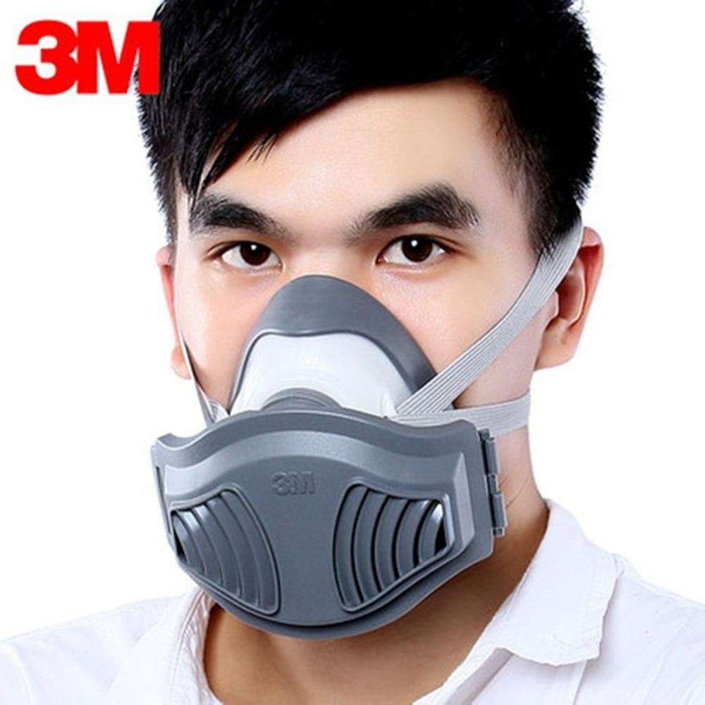 3 m 1211 Máscara de Poeira Respirador Anti-poeira Anti Neblina Pólen Veneno Gás Família & Site Profissional de Construção Industrial proteção