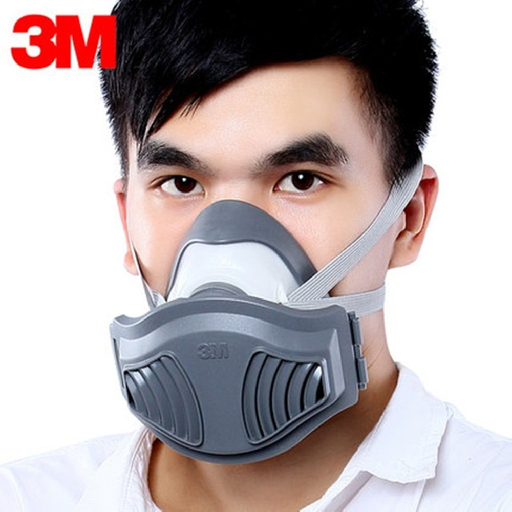 3M 1211 Dust Mask Respirator Anti-dust Anti Industrial Construction Pollen Haze Poison Gas Family & Professional Site Protection 3m 7502 dust mask 2091 high efficiency filter cotton anti industrial conatruction dust pollen haze safety protective mask