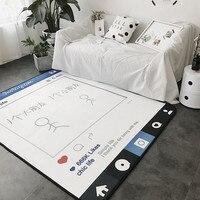 Скандинавском стиле хронических отскок ковры для гостиной диван Чай столик спальня прикроватный коврик и ковер современный черный/белый п