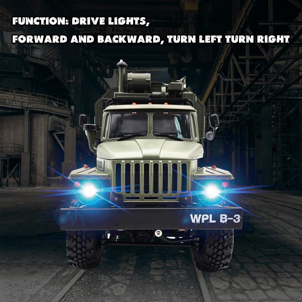 WPL RC camión B36 Ural 1/16 2,4G 6WD de Control remoto Camión Militar Rock Crawler coche Hobby juguetes para niños carro eletrico - 2