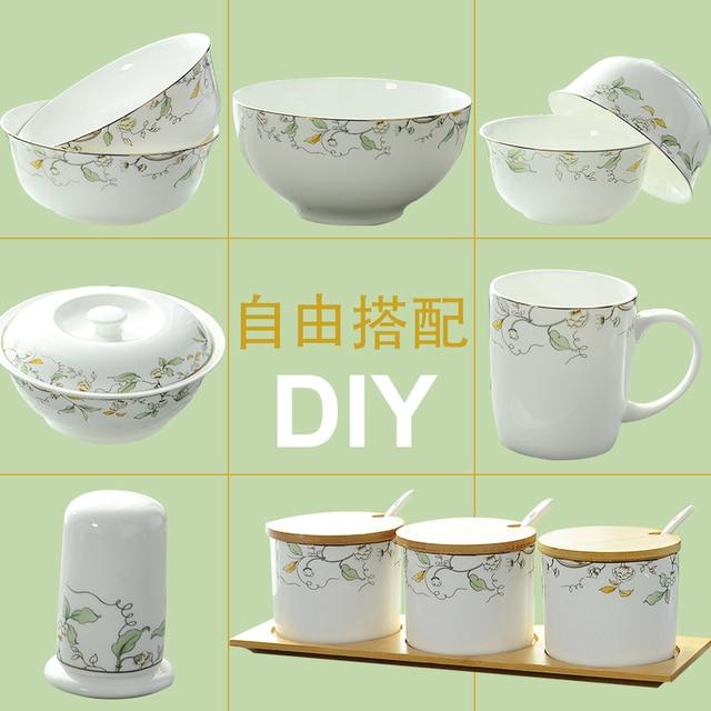DIY Western Style Household Creative Ceramic Tableware Set Bowls u0026 Plates u0026 Stockpot u0026 Ceramic Spice  sc 1 st  AliExpress.com & DIY Western Style Household Creative Ceramic Tableware Set Bowls ...