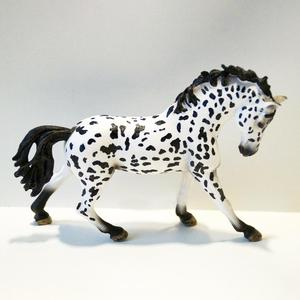 Image 3 - PVC Simulation paard animal Model Horses 5inch Denmark Knabstrupper Mare toy Figure farm animals toys Fairy Garden Decoration