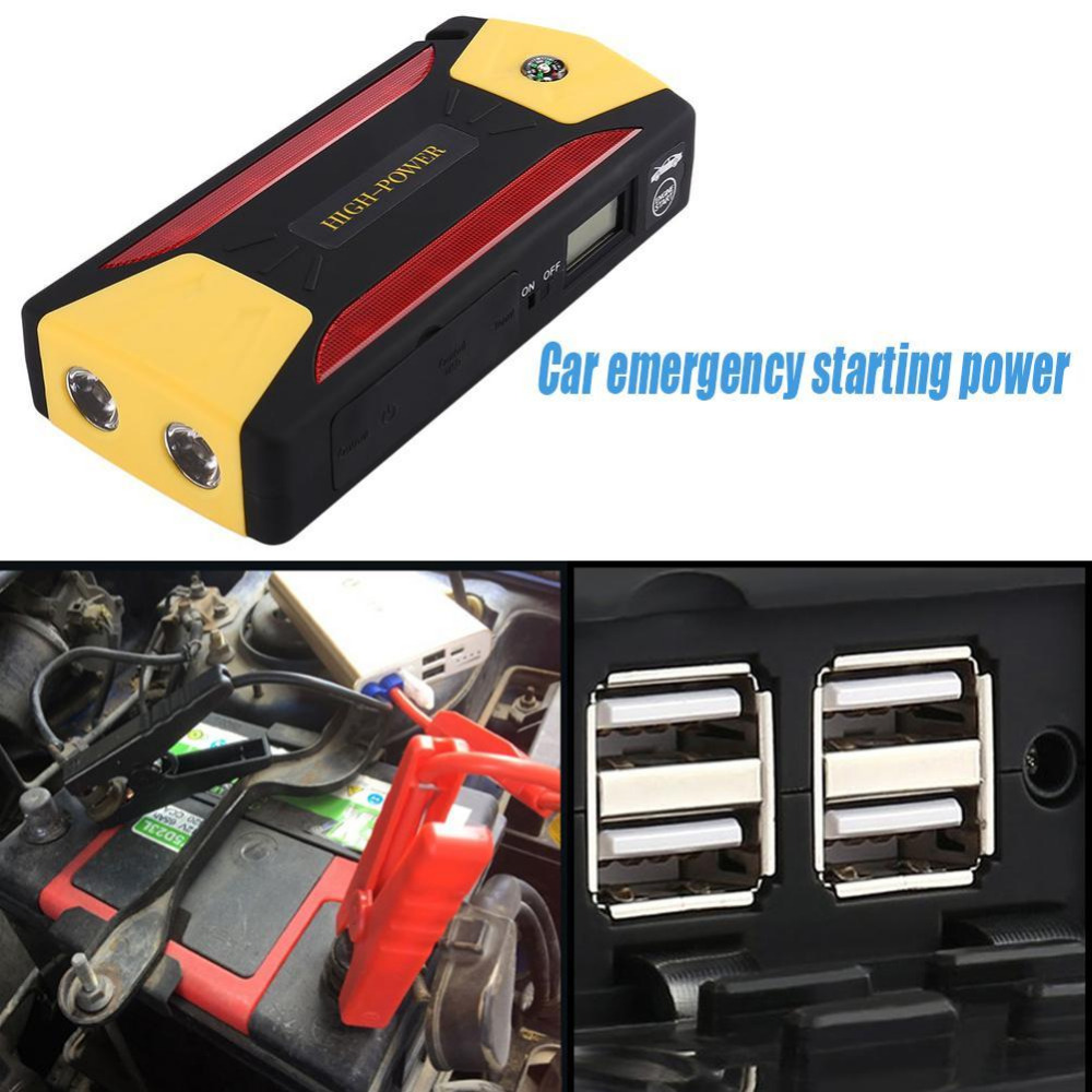 82800mAh Portable Car Jump Starter Battery Booster with LED USB Power Bank Starting Vehicle Emergency Tool