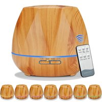 550ML Remote Control Essential Oil Aroma Diffuser With 7 Color LED Lights For Home Aromatherapy Diffuser