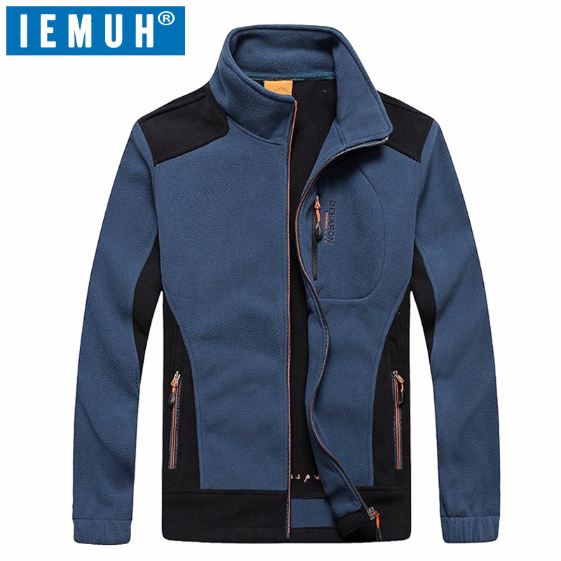 IEMUH Brand Winter Big Size L-7XL Thermal Fleece Jacket Men Autumn Outdoor Sport Fleece Windstopper Warm Thicken Hiking Jackets lance hiking winter fleece thermal pants windproof leisure style climbing cycing bike outdoor sport pant men big size cloth