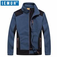 IEMUH Brand Winter Big Size L 7XL Thermal Fleece Jacket Men Autumn Outdoor Sport Fleece Windstopper Warm Thicken Hiking Jackets