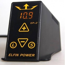 New Arrival ELFIN POWER EP-2 Tattoo Power Supply Digital LCD Black Tattoo Power Supply For Tattoo Machine Kit Free Shipping
