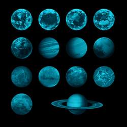 1pcs 3D Planet Earth Fluorescent Wall Sticker Removable Glow In The Dark Sticker Creative Wall Decals 2018 New for kids Room