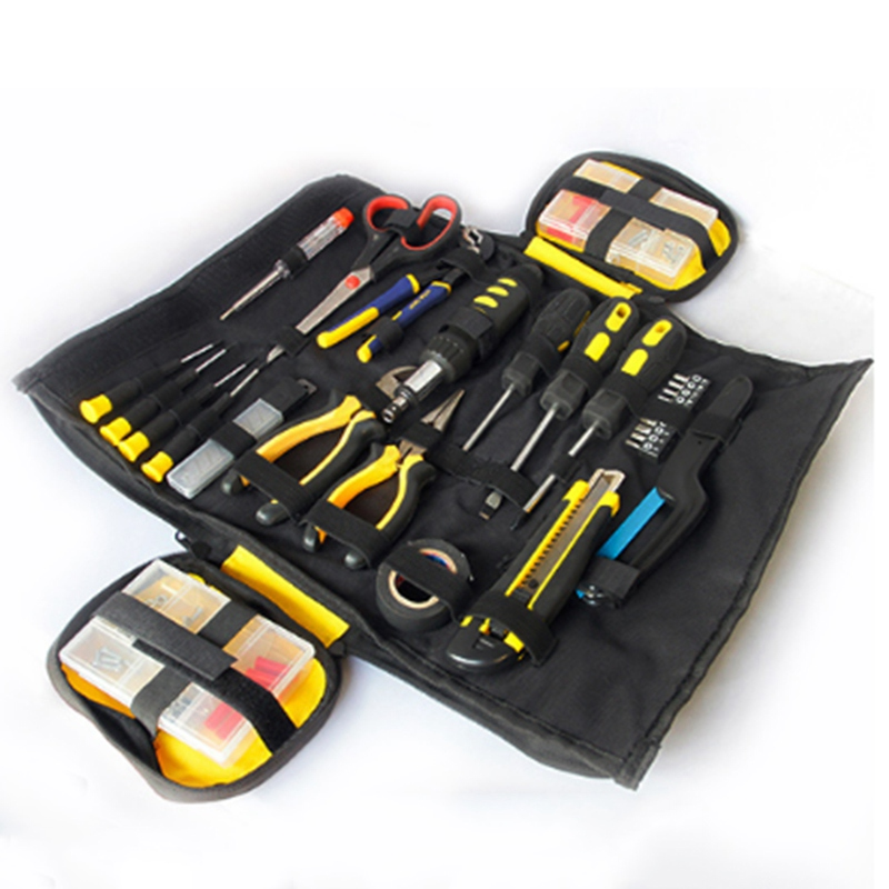 Hoomall 1PC Tool Kit Gary Black Waterproof Oxford Canvas Multifunction Large Capacity Thicken Professional Repair Hand Tools Bag hoomall tool kit multi functional maintenance electrical shoulder bag large thick canvas oxford cloth tool bag
