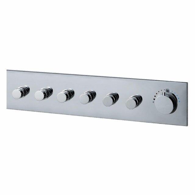 560120MM Bathroom Shower Mixer Valve Tap Controller Square Faucet Connect Luxury 6