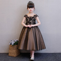28902f199b3cdc Exquisite Kids Girls Princess Baptism Birthday Dress Teenage Flower Fashion  Fancy Elegant Long Wedding Gowns Children