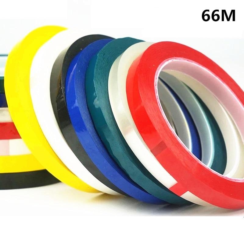 1pcs 5S Desktop Positioning Tape Marking Tape Whiteboard Color Discrimination Warning Drawing Grid Line 2mm 3mm 66M
