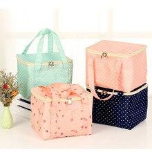 Новинка, сумка для обеда, изолированная Холщовая Сумка в полоску, чехол для пикника, термопереносная коробка для обеда, Bolsa Termica Lancheira