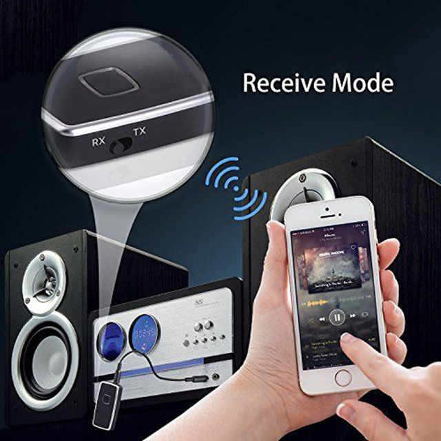2 in1 Bluetooth Transmitter Receiver HIFI Wireless Receiver A2DP Portable Audio Player Aux 3.5mm Black Bluetooth Audio Adapter