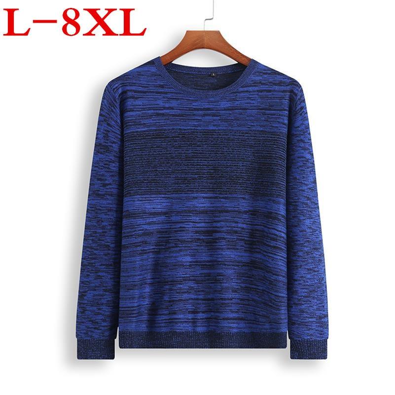 2018 Nouveau 8XL 7XL marchandises D'exportation Printemps pull hommes marque célèbre vêtements mode o-cou tricot hommes pull mode pullover décontracté